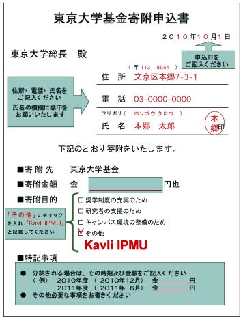 申込書の記入例