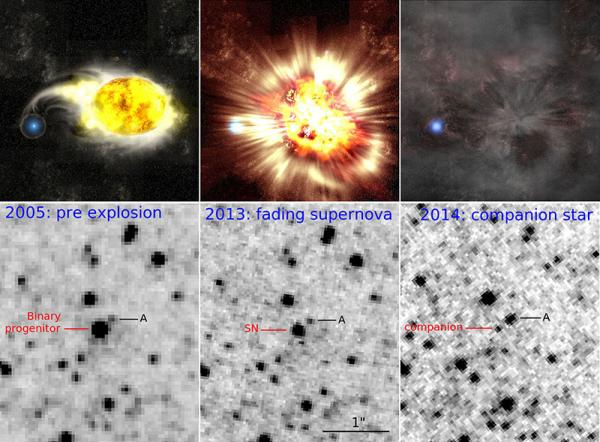 M51 supernovaens udvikling