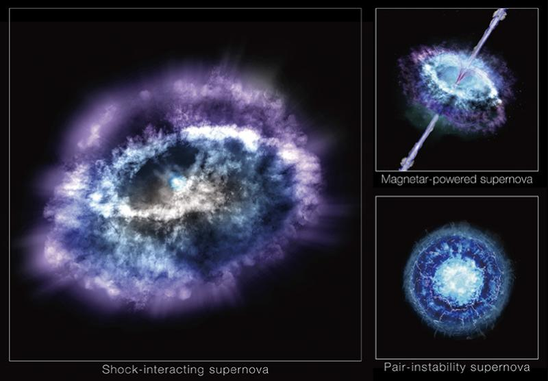 shock-interacting, magnetar-powered and pair-instability supernova. SLSN Gaia16apd is most likely a shock-interacting supernova in which radiating shock waves easily produce enormous amounts of UV light.