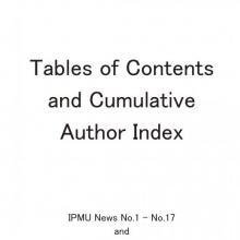 Tables of Contents and Cumulative Author Index
