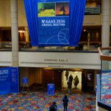 Feb11-15 Kavli IPMU in WPI exhibitition booth at AAAS Annual Meeting